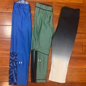 Under armour and Nike workout pants